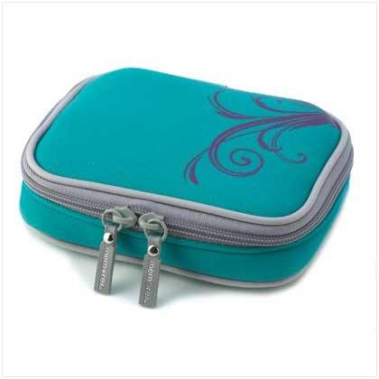 Aqua Neoprene Memorex Gps Device Travel Case Holder