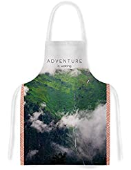 KESS InHouse Ann Barnes Adventure is Waiting Mountain Artistic Apron, 31 by 35.75, Multicolor