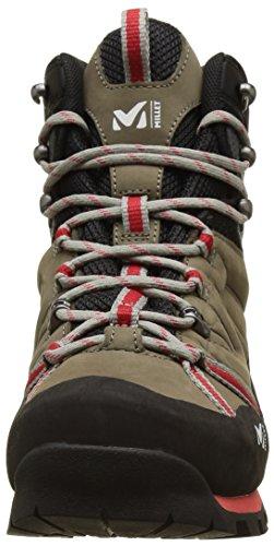 MILLET High Route, Stivali da Escursionismo Alti Uomo Multicolore (Faint Brown/Red)