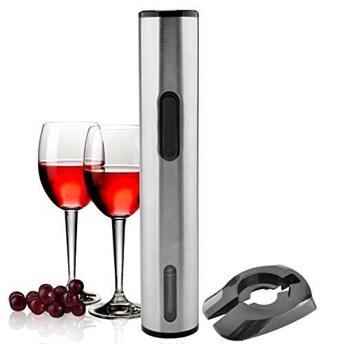 Corkscrew Wine Opener by iTECHOR, Premium All-in-one Stainless Steel Automatic Corkscrew Opener and Advise Use New Battery