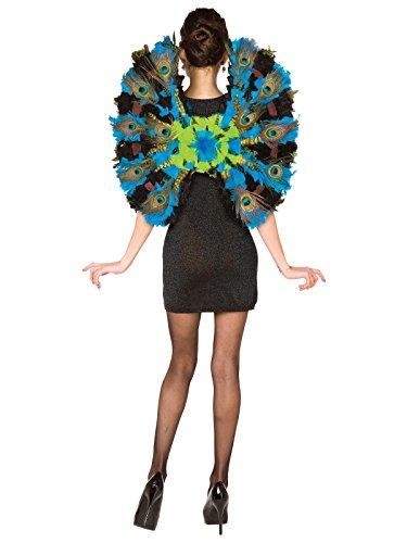 BUYSEASONS Peacock Wings - One-Size Blue ()