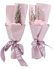 WEIkekejiji Innovativ Tvål Rose Blommor Presentbox Bukett Bröllop Dekoration Alla Hjärtan Dag Gåva Lämplig För Bröllop Matbord Kontor Och Dekoration