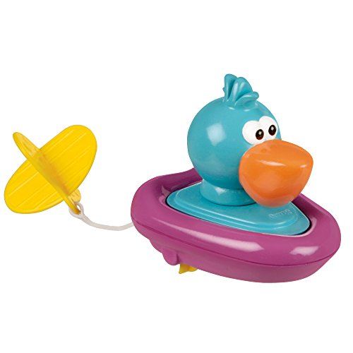 Sassy Pull and Go Boat Bath Toy, Pelican (Sassy Bath Infant Toy)
