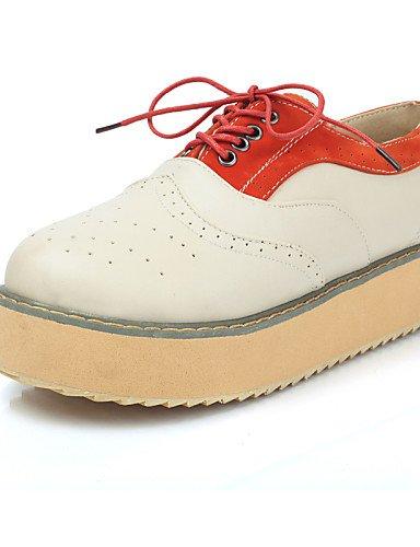 lvyuan-njx 2016 de zapatos de mujer plataforma Comfort Punta Redonda  Oxfords Exterior  0cd7f32b7d1c