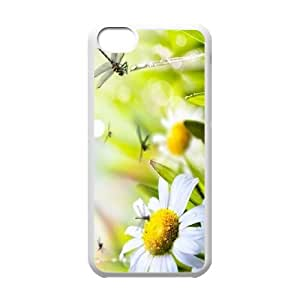 Iphone 5C 2D Customized Hard Back Durable Phone Case with Daisy Image
