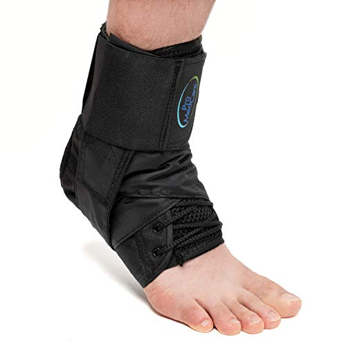 Ankle Braces, Ankle Support, Ankle Support Brace for Ankle Sprains, Volleyball, Basketball for Men & Women (Black, Large)