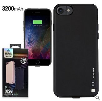 WARSHIP POWER BANK CASE 3200 mAh IPHONE 7 BLACK