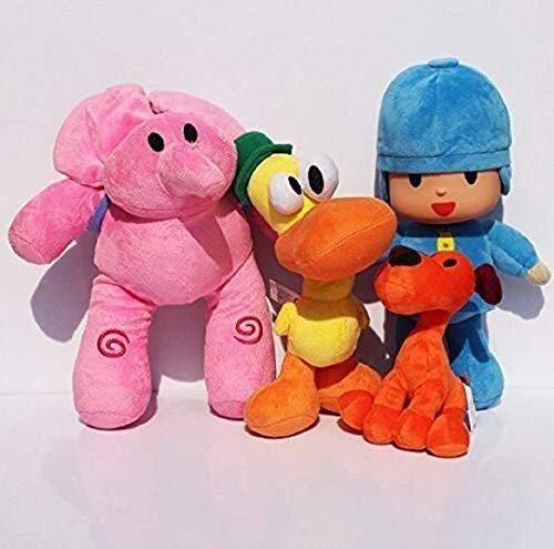 - Marery Pocoyo Plush 14cm-30cm Pocoyo Loula Elly Pato 4pcs Set Doll Stuffed Animals Soft Figure Anime Collection Toy (oneset)