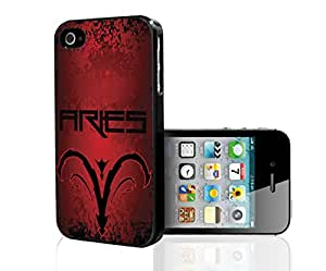 Red and Black Aries Horoscope Hard Snap on Phone Case (iPhone 4/4s)