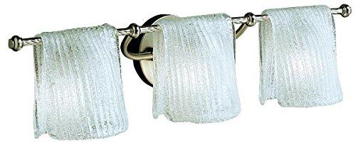 Kichler Drapes (Kichler Lighting 6313NI Drapes 3LT Vanity Fixture, Brushed Nickel Finish and Clear Ice Glass Shades)