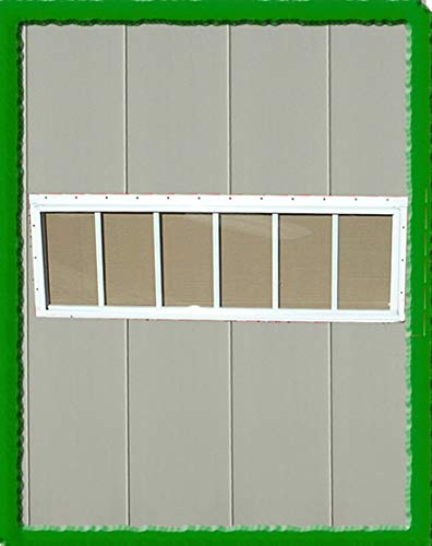 SHED, PLAYHOUSE WINDOW-TRANSOM-10X23-BROWN-FLUSH by OUTDOOR PLAY AND STORAGE