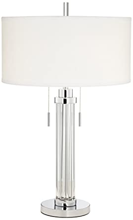 Perfect Possini Euro Cadence Glass Column Table Lamp