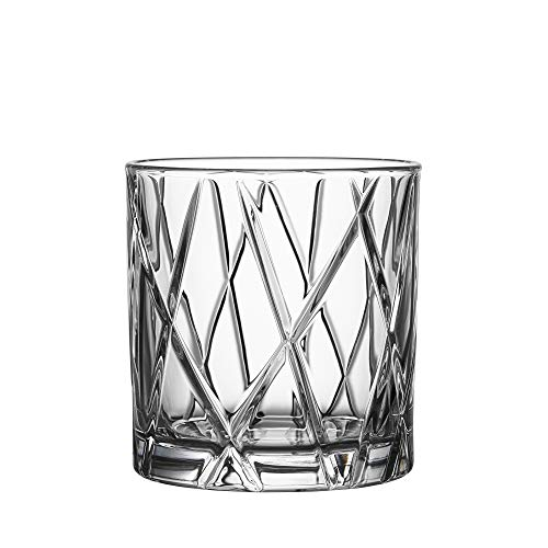 (Orrefors City 10.9 Ounce Double Old Fashioned Glass, Set of 4)