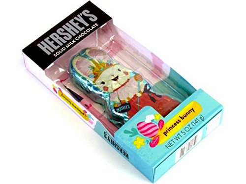 Hershey's Princess Easter Bunny Basket Stuffer Solid Milk Chocolate, 5 (Easter Bunny Milk)