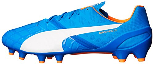 Puma Evospeed 1.4fg Botas de fútbol Electric Blue Lemonade/White/Orange Clownfish