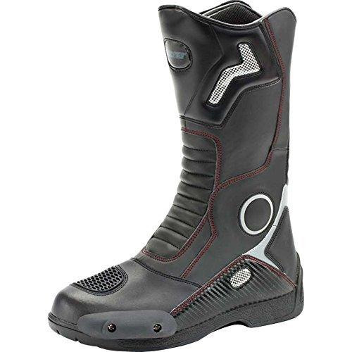 Joe Rocket Ballistic Touring Mens Riding Shoes Sports Bike Racing Motorcycle Boots - Black/Size 13
