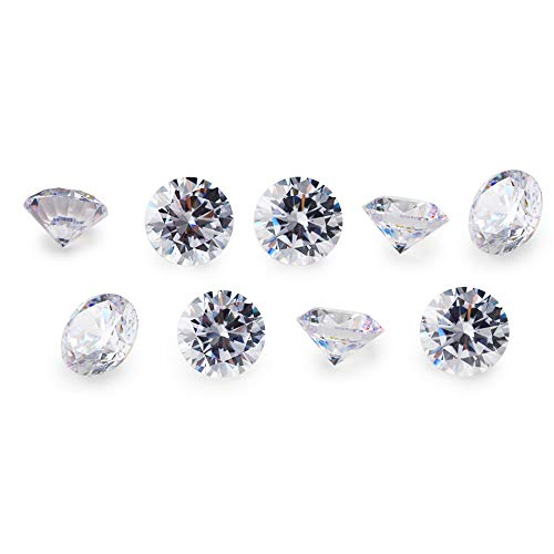 - Round Brilliant Cut 5A White Cubic Zirconia Stone Loose CZ (0.9mm 1000pcs)