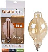 Tecnolite, Foco Vintage LED, Modelo 3DBT160LEDFC20VA, Foco Atenueble / Luz Suave Cálida, Base E27, Tamaño 33.1