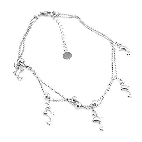 Orcbee  _Women Chain Anklet Bracelet Dolphin Anklet Sandal Beach Foot -