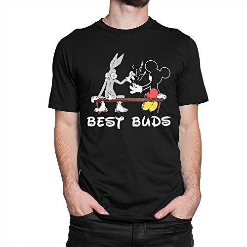 Bugs Bunny and Mickey Mouse_Best Buds_ T-Shirt, Looney Tunes Tee,Famous T-shirt-unisex Tee Shirt- Size- S- 3XL- Fashion Tshirt- Gift