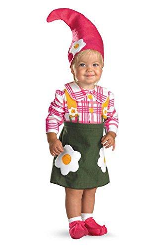 Mememall Fashion Flower Garden Gnome Toddler Costume (Gnome Girl Costume For Toddlers)