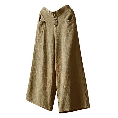 Donna Pantaloni Unita Svago Mambain taglie tinta baggy Forti lino kz2 Beige Da Pantalone t1Cdw4q