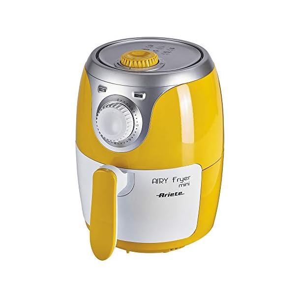 Ariete 4615 Airy Fryer Mini, Friggitrice ad aria senza olio, 1000 W, Capacità 2 Litri, Facile da pulire, Giallo 1