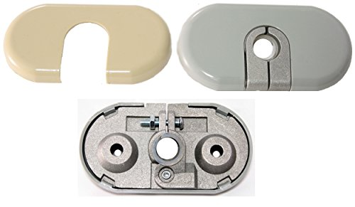 APDTY 035380 Sun Visor Hinge Bracket Mount Repair Kit Fits Left Driver-Side 2002-2005 Ford Explorer Lincoln Aviator Mercury (Ford Explorer 2004 Sun Visor)
