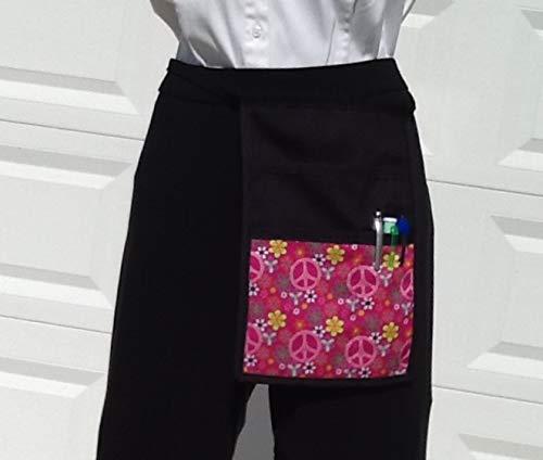 Black I Pad MINI Pocket  Side Hip Apron  Bar Waiter Waitress Money Pouch
