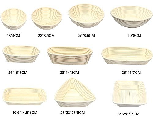 BabyFoxy 2 pack of 7'' Round Brotform Banneton Bread Proofing Baskets with a bread dough whisk (Bonus Linen Cover) (7 inch) by BabyFoxy (Image #6)