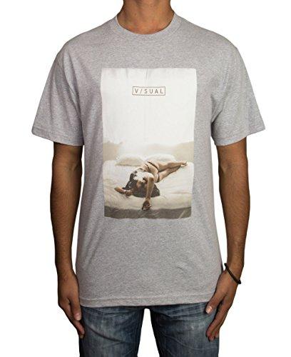 Visual by Van Styles Men's Mellow T-Shirt, Grey, Medium