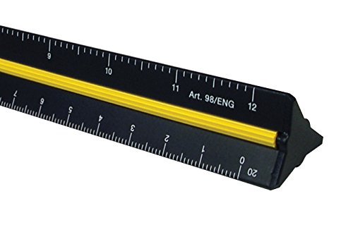 Alvin 98/ENG 12'' Black Aluminum Engineer Triangular Scale by Alvin (Image #2)