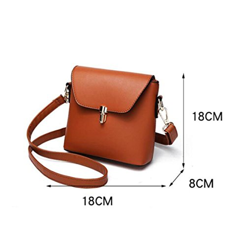 La Del Hombro Red Mujer De Casual Simple PU Bolso Bolso Crossbody Fashion Mini BAILIANG De Para CZ5qYnBxw