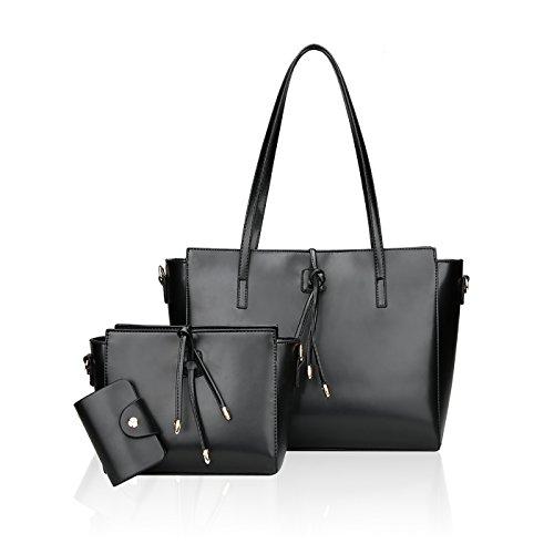 Tisdaini 2018 nuova borsa a tracolla della mano della borsa a tracolla della borsa della borsa della borsa della signora della borsa della signora delle nuove signore Nero