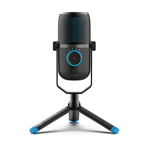JLab Audio Talk USB Microphone | USB-C Output | Cardioid, Omnidirectional, Stereo or Bidirectional | 96k Sample Rate | 20Hz - 20kHz Frequency Response | Volume, Gain Control, Quick Mute | Plug & Play