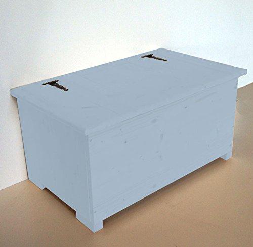 Amico Legno Cassapanca in multistrato con cerniera esterna Cod 55 100x45x47 Smalto Ad Acqua Colore Celeste