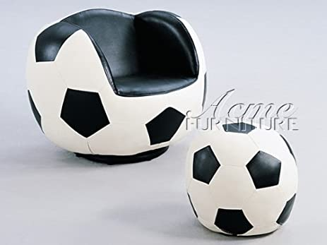 High Quality All Star Youth Soccer Theme Soccer Ball Swivel Chair And Ottoman