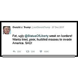 New Color Sticker Anti Donald Trump Twitter Tweet Immigration Wall Parody Funny