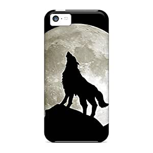 TQq18601ZCdb Wolf And Moon Awesome High Quality Iphone 5c Cases Skin