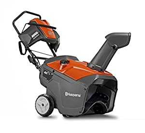 4. Husqvarna 961830004 208cc Single Stage Electric Start Snow Thrower, 21-Inch, with Headlight
