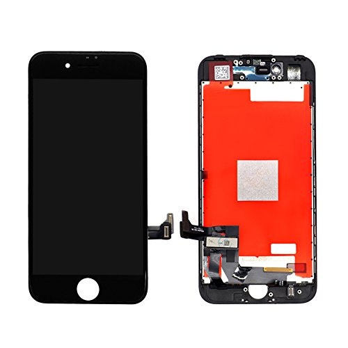 Screen Replacement Kit for iPhone 7 (Black), Miardo LCD Digitizer 3D Touch Display Assembly Set Included Repair Tools, Compatible with A1660, A1778, A1779