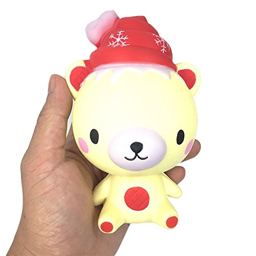 Christmas Toy,Todaies Exquisite Santa Claus Scented Squishy Charm Slow Rising Simulation Kids Snow Man Toys (13cm, Bear) (Best Transformer Costume Video)
