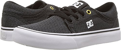 TX SE Skate Shoes Sneaker, Black/Grey/White, 11 M US Big Kid (Dc Girls Shoes)