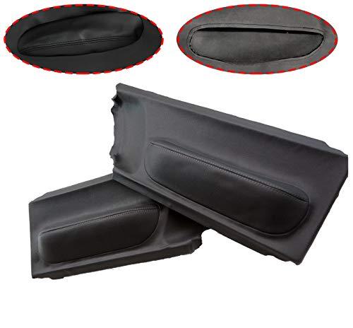 - ALLMOST New Door Panel Insert Cards Leather Synthetic for Volkswagen Beetle 1998-2010 Black