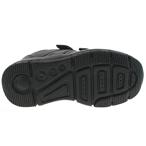 BOYS EZ10 EZ1006 (CB01) SUPER LIGHT 1 BLACK ADJUSTABLE STRAP SCHOOL SHOES -28 (UK 10)