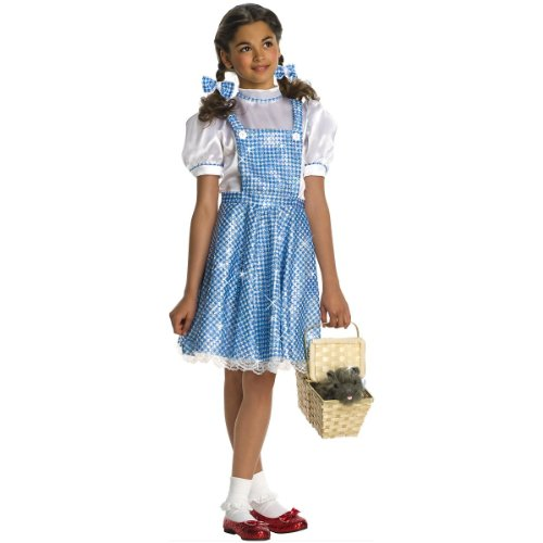 Wizard of Oz Child's Deluxe Sequin Dorothy Costume, Medium -