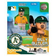 MLB Oakland Athletics Billy Butler Generation 4 Mini Figure, Small, Black