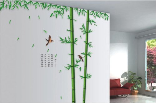 brand 100 x 96 Inch Huge Large Green Bamboo Tree room Wall Stickers/Decals /Mural