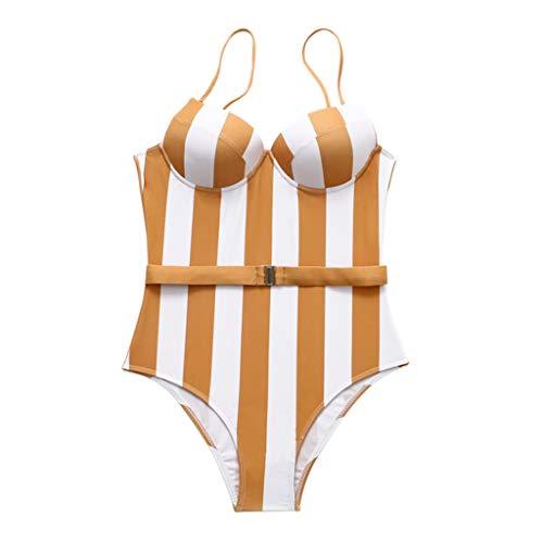 Yanvan Womens Bathing Suits, Women Ruffles Ribbons Floral Print Tankini Set Bikini Swimwear Bathing Beachwear