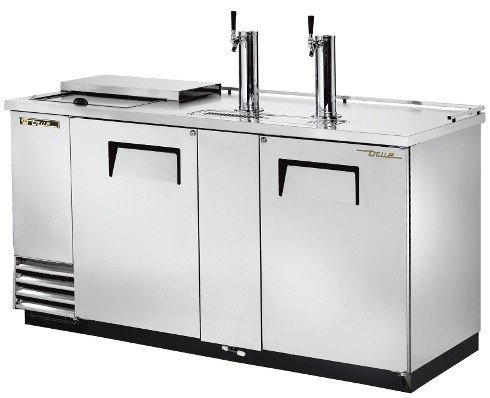 True S/S Club Top Direct Draw Beer Dispenser f/ 3 Half Barrels (3 Dispenser Draw Keg Direct)